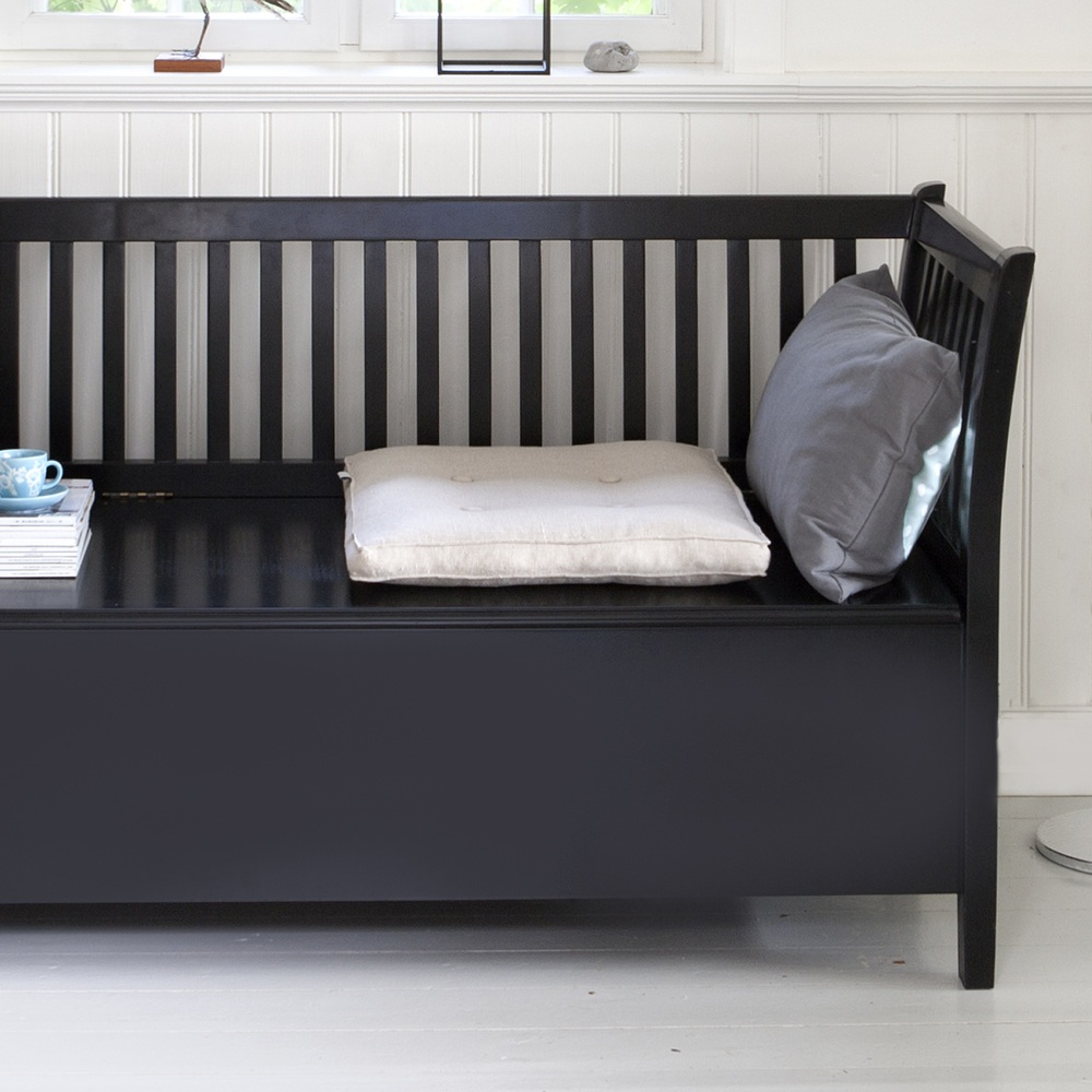 Svart Kokssoffa : svart slagbonk 131cm oliver furniture kokssoffa liten svart
