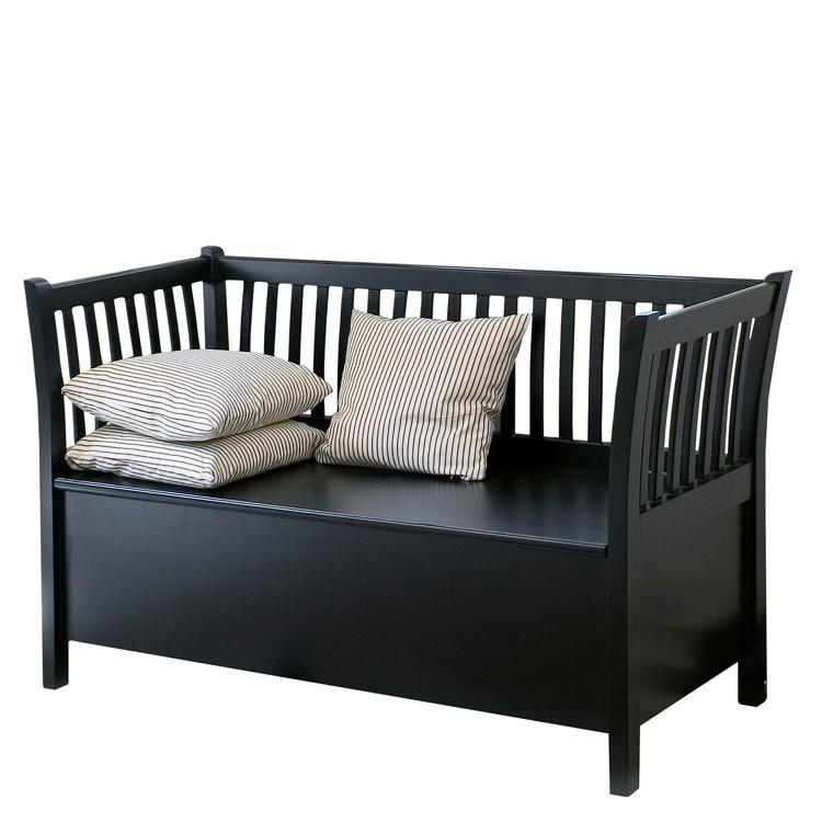 svart slagb?nk 131cm oliver furniture k?kssoffa liten svart