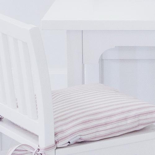 Tyg vit /rosa randigt bredd 140 cm Oliver Furniture