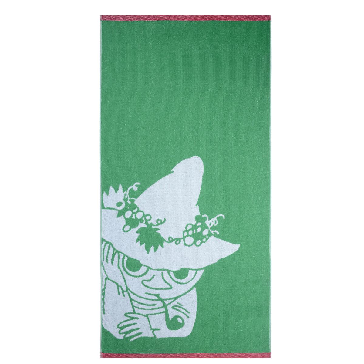 Snusmumriken badlakan röd/grön Finlayson