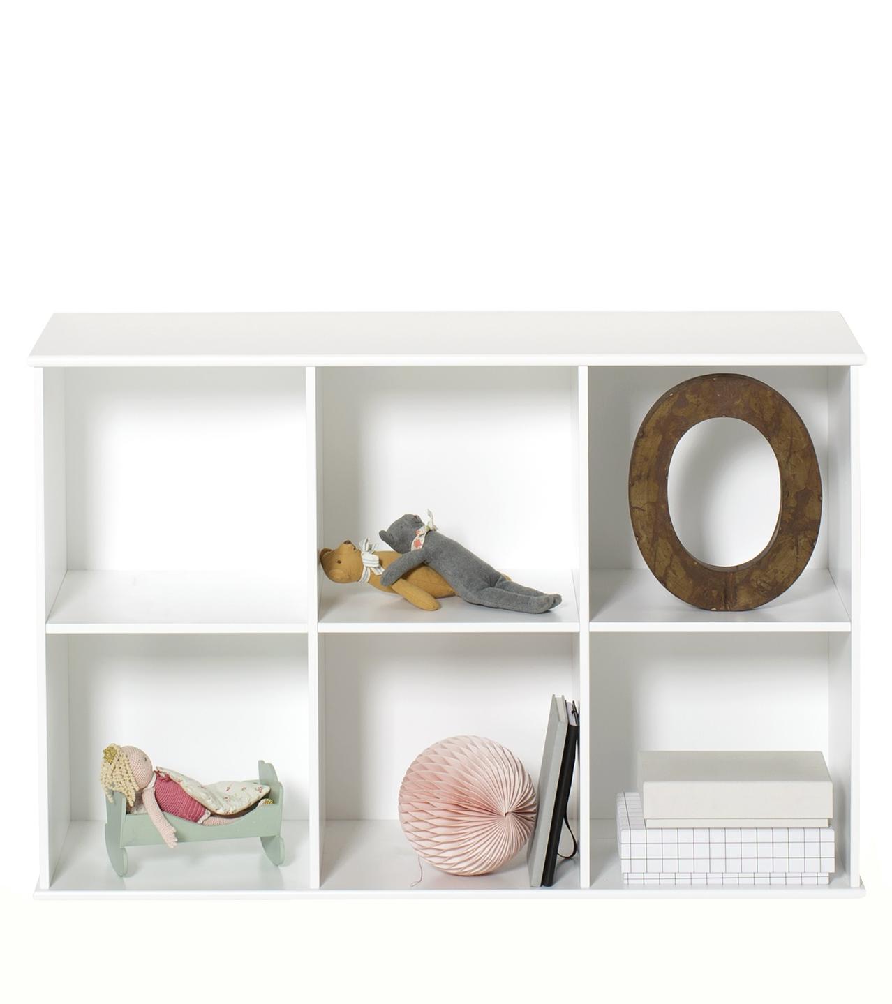 Wood bokhylla 3 x 2 för vägg Oliver Furniture