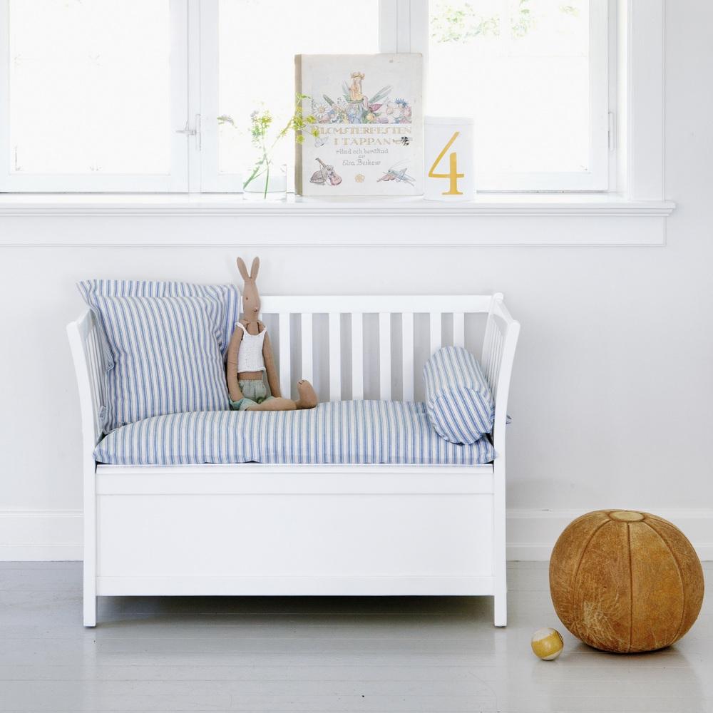 Oliver furniture förvaringsbänk för barn / vit