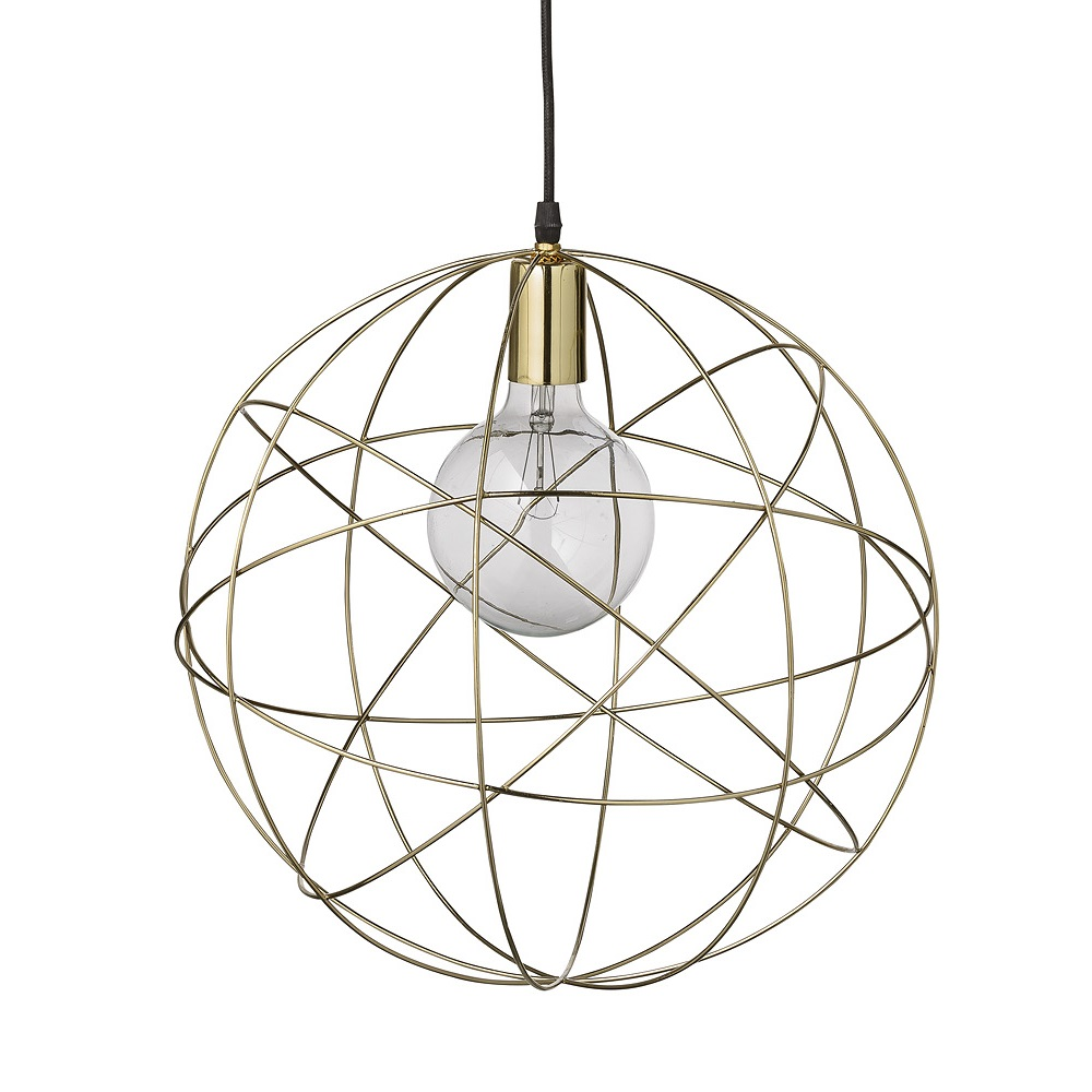 Pendel lampa i mässing Ø40 cm Bloomingville