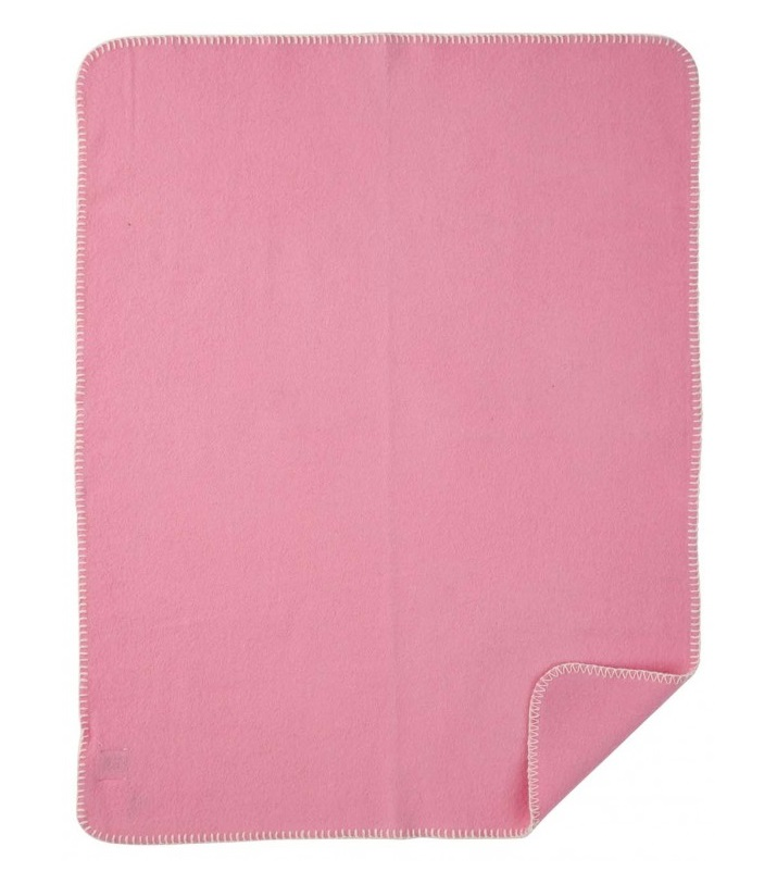 Soft Wool Baby barnfilt rosa Klippan Yllefabrik