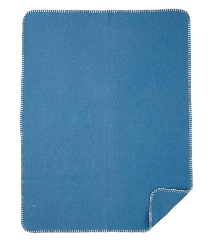 Soft Wool Baby barnfilt blue Klippan Yllefabrik