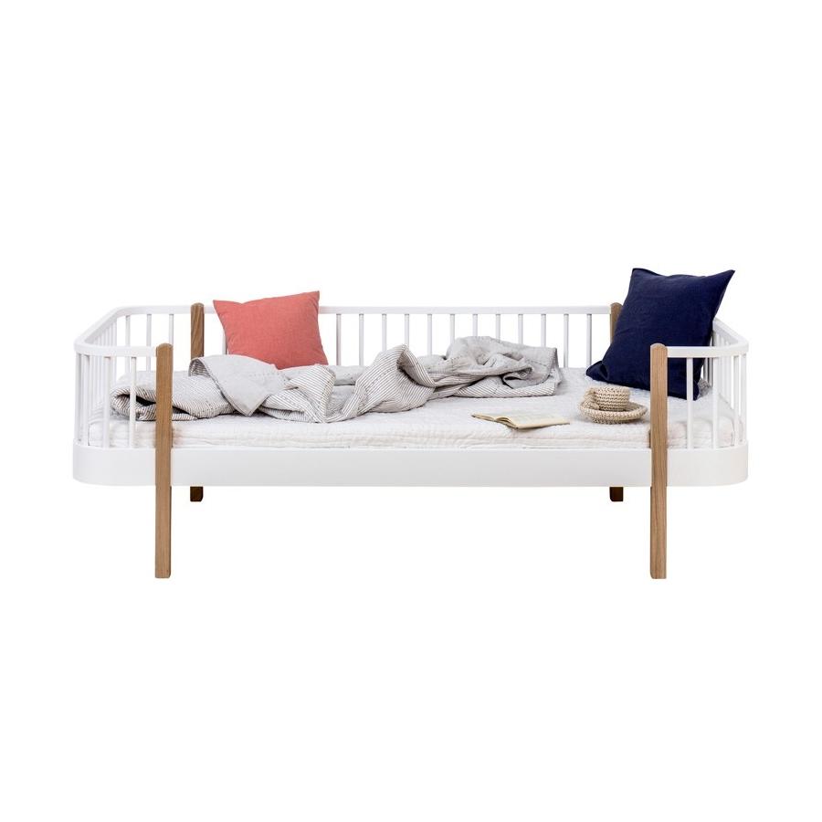Dagbädd Wood Collection vit/ek Oliver Furniture