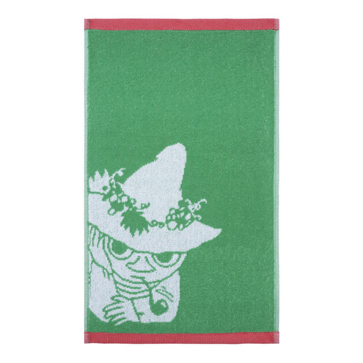 Snusmumriken handduk röd/grön Finlayson