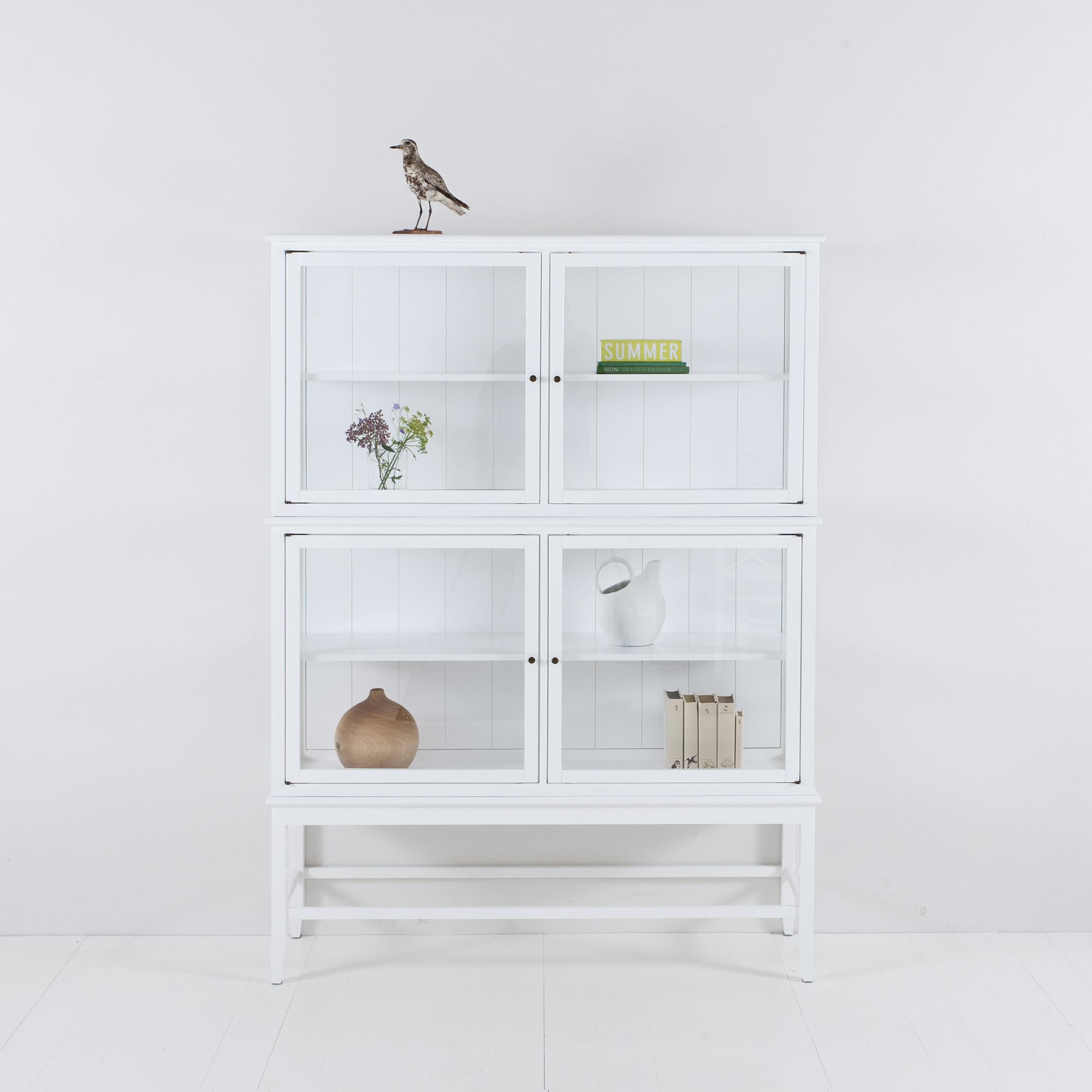 Oliver Furniture Vitrinskåp Med Ben, Vitt 091417