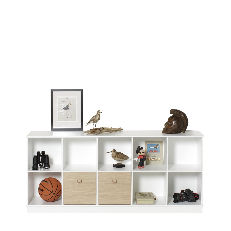 Wood horisontal hylla 5 x 2 sockel Oliver Furniture