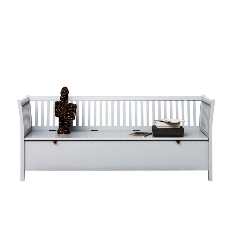 Kökssoffa grå slagbänk 194 cm Oliver Furniture