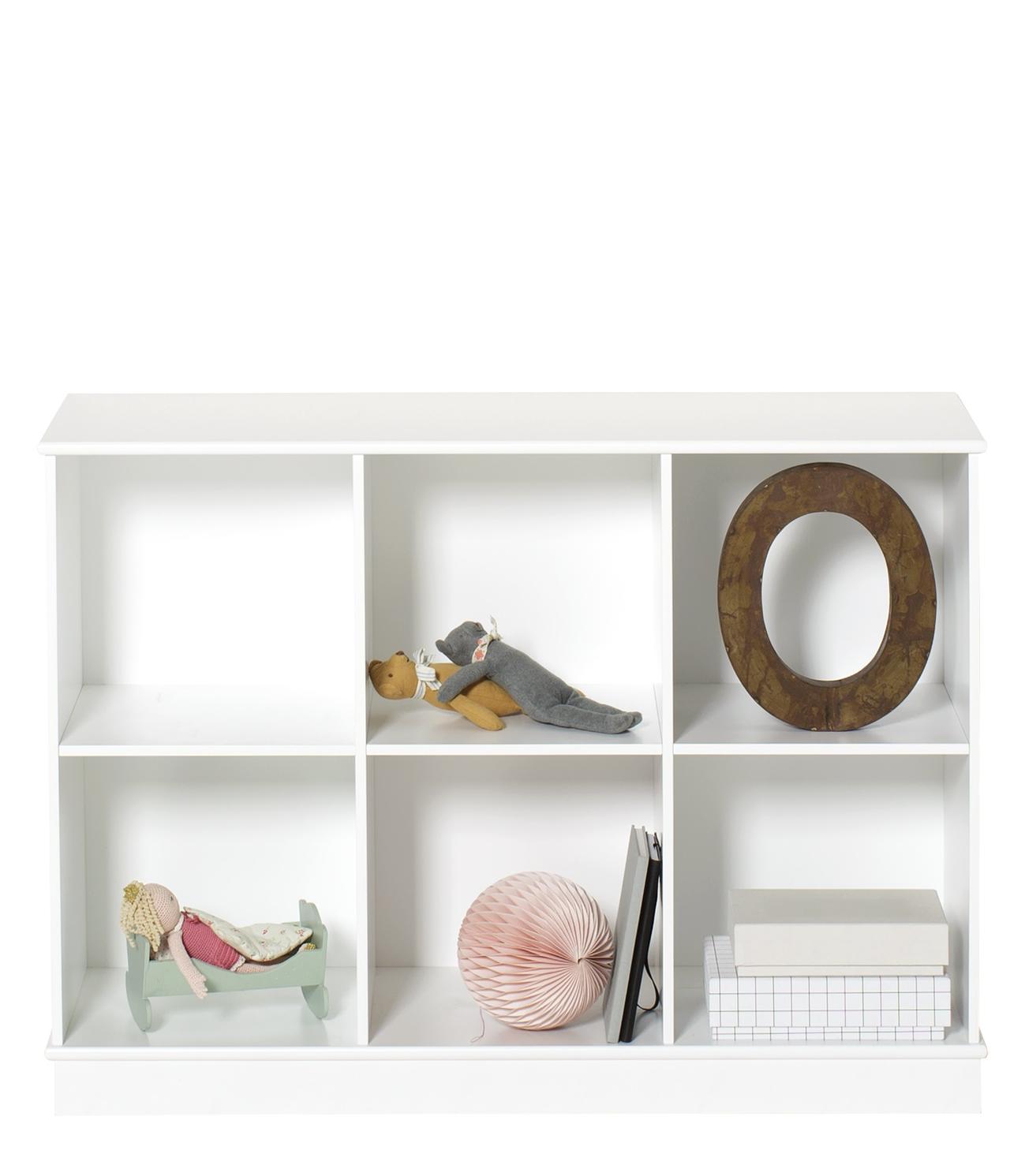 Wood bokhylla 3 x 2 med sockel Oliver Furniture