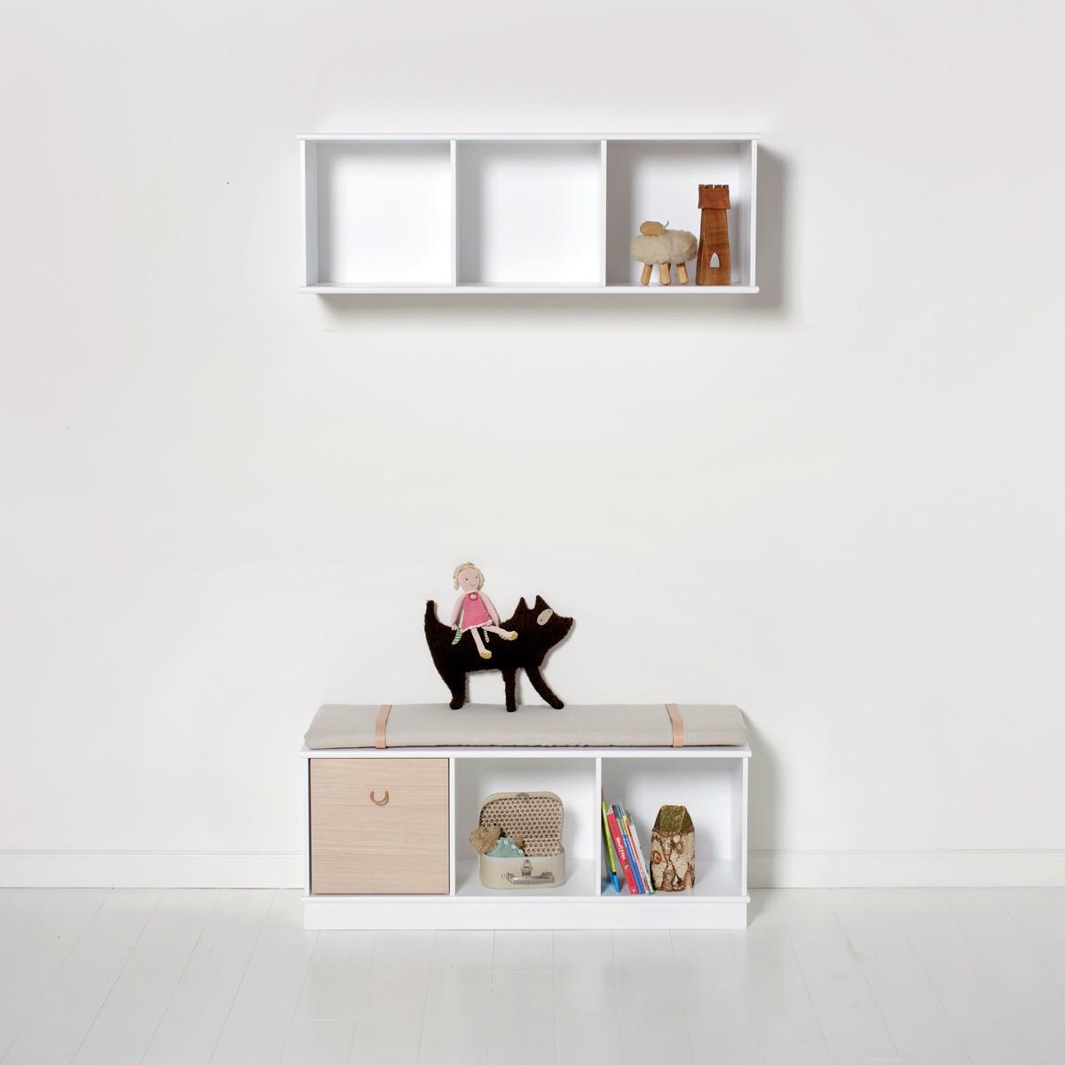 bokhylla vägg ~ wood bokhylla 3 x 1 för vägg, oliver furniture