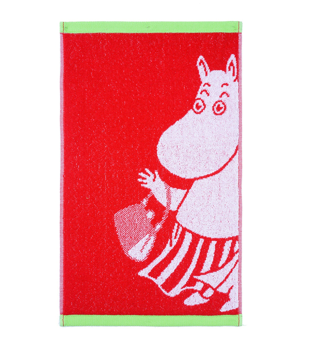 Muminmamman handduk röd/lime Finlayson