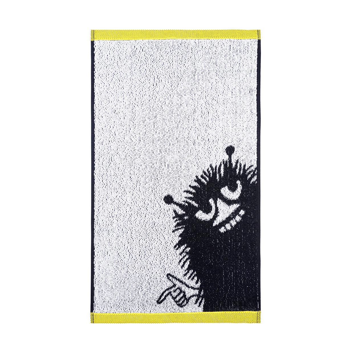 Stinky handduk svart/vit/gul Finlayson