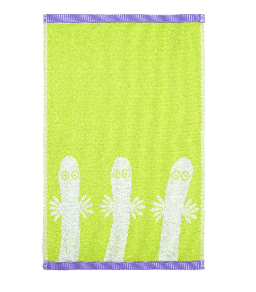 Hattifnattarna handduk lime/lila Finlayson