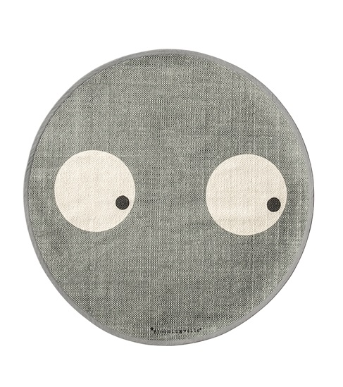 Barnmatta Ø80 cm Cool Grey Bloomingville Kids