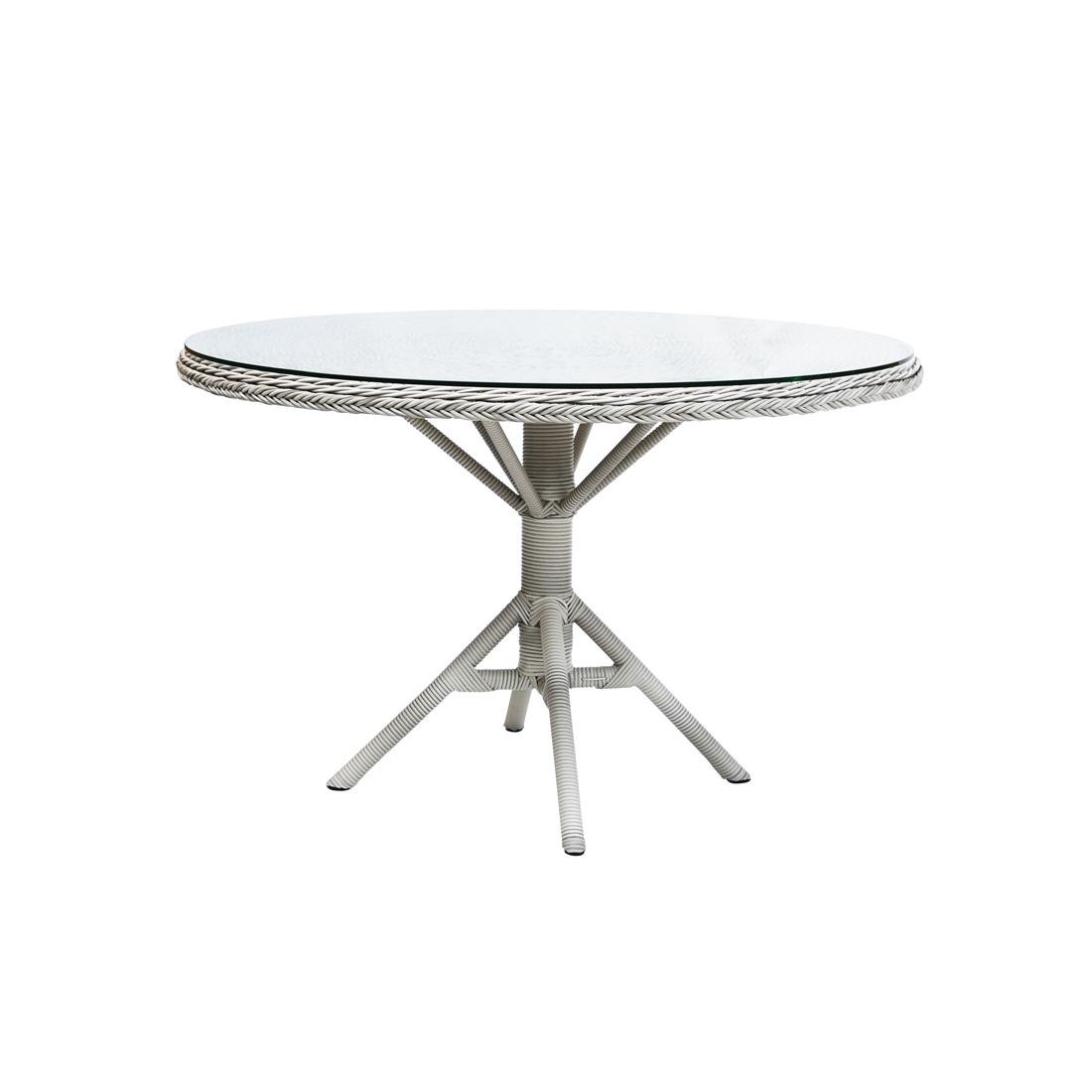 Grace matbord m/ glastopp Vintage white Sika-design