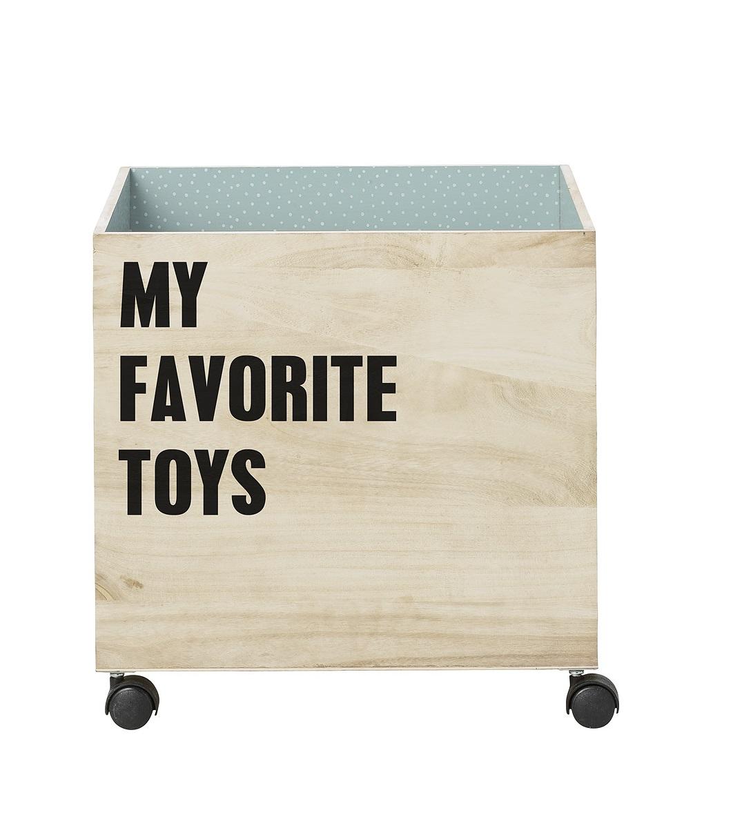 Förvaringslåda My Favorite Toys på hjul Bloomingville