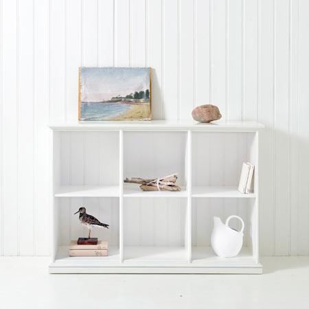 Låg hylla tre sektioner 021319 Oliver Furniture