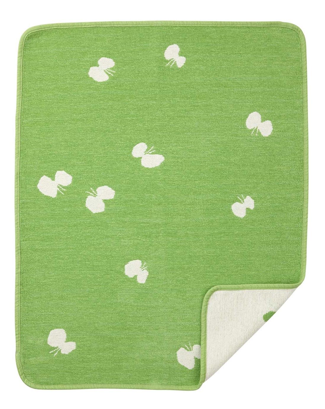 Choucho bomullschenillefilt grön Klippan Yllefabrik