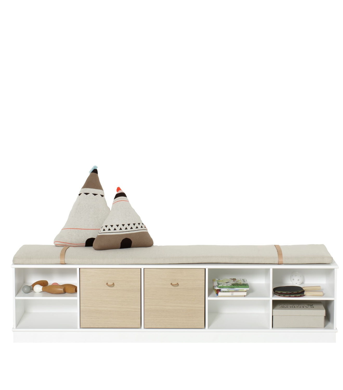 Wood horisontal hylla 5 x 1 sockel Oliver Furniture