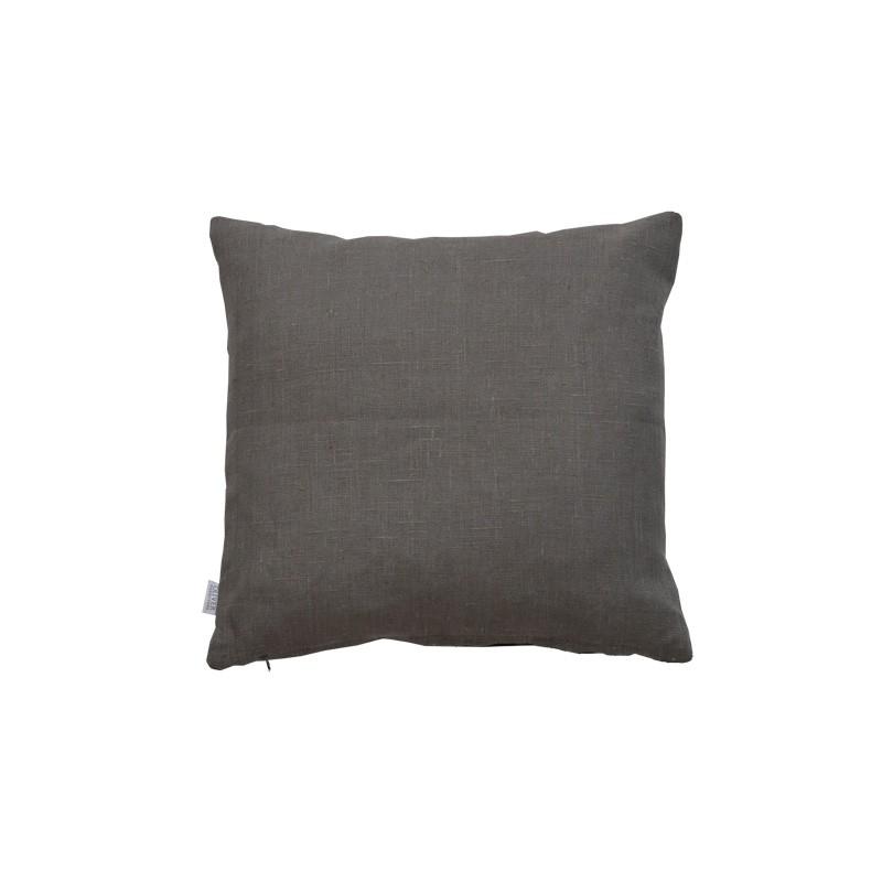 Linnekudde 40 x 40 cm gråfärgad Oliver Furniture
