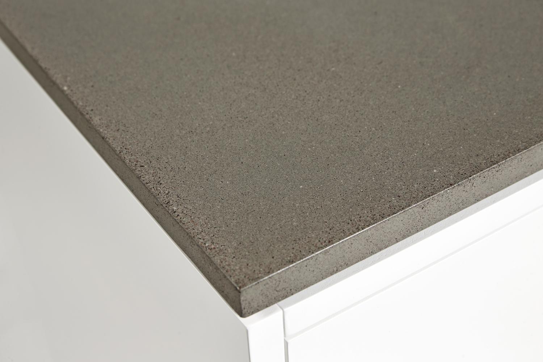 Abisko sängbord höga ben vit betong, Mavis