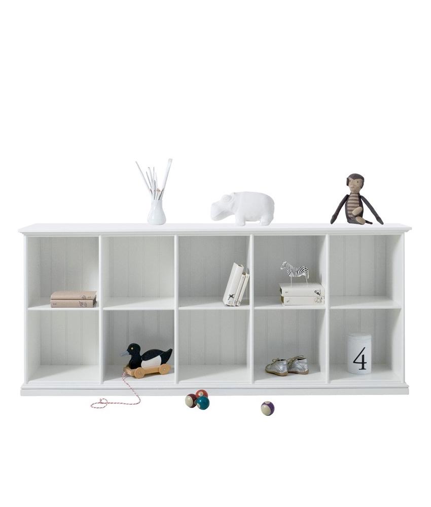 Låg hylla fem sektioner 021320 Oliver Furniture