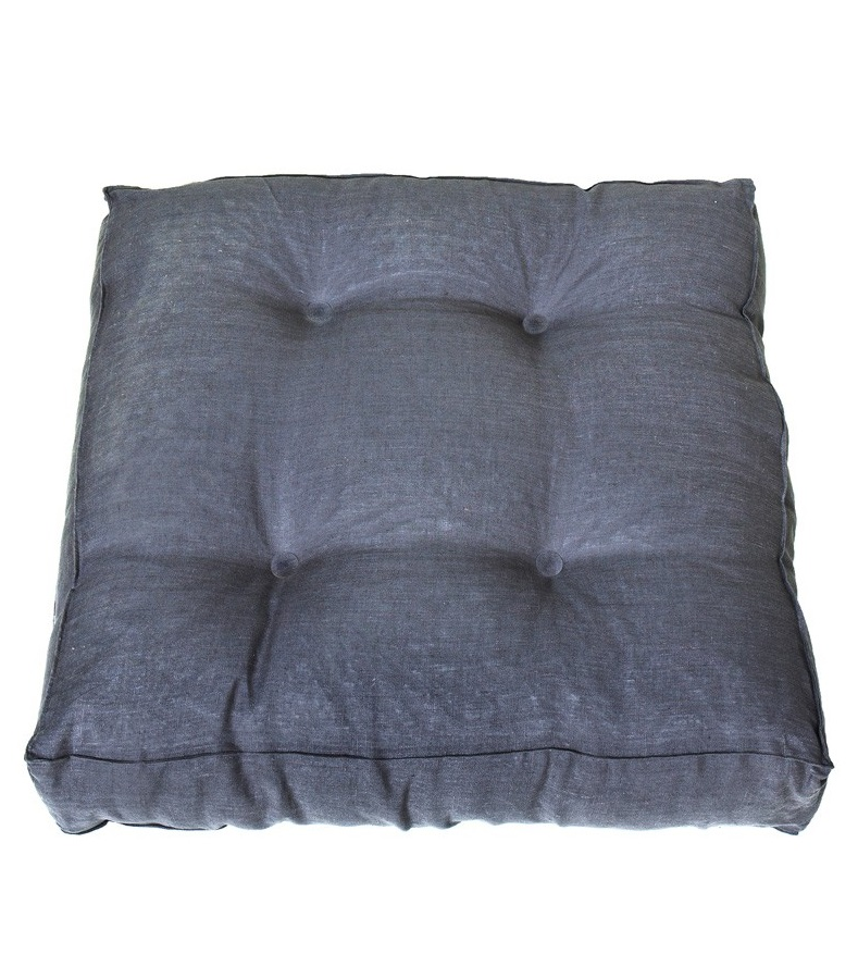 Golvkudde grå linne 90 x 90 cm Oliver Furniture