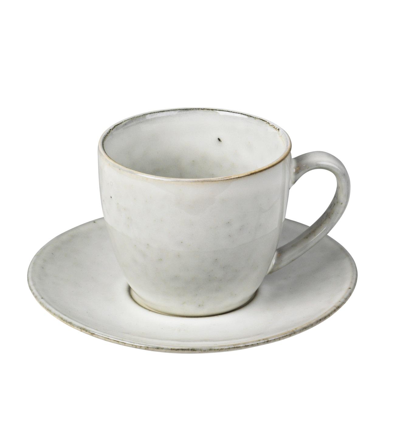 Kaffekopp med fat NORDIC SAND Broste Copenhagen
