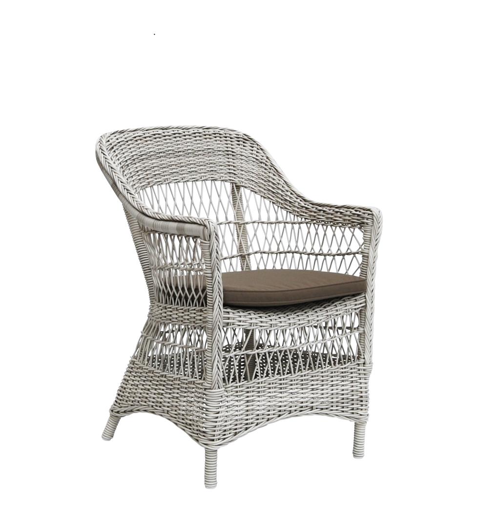 Trädgårdsstol Charlot vintagevit Sika-design