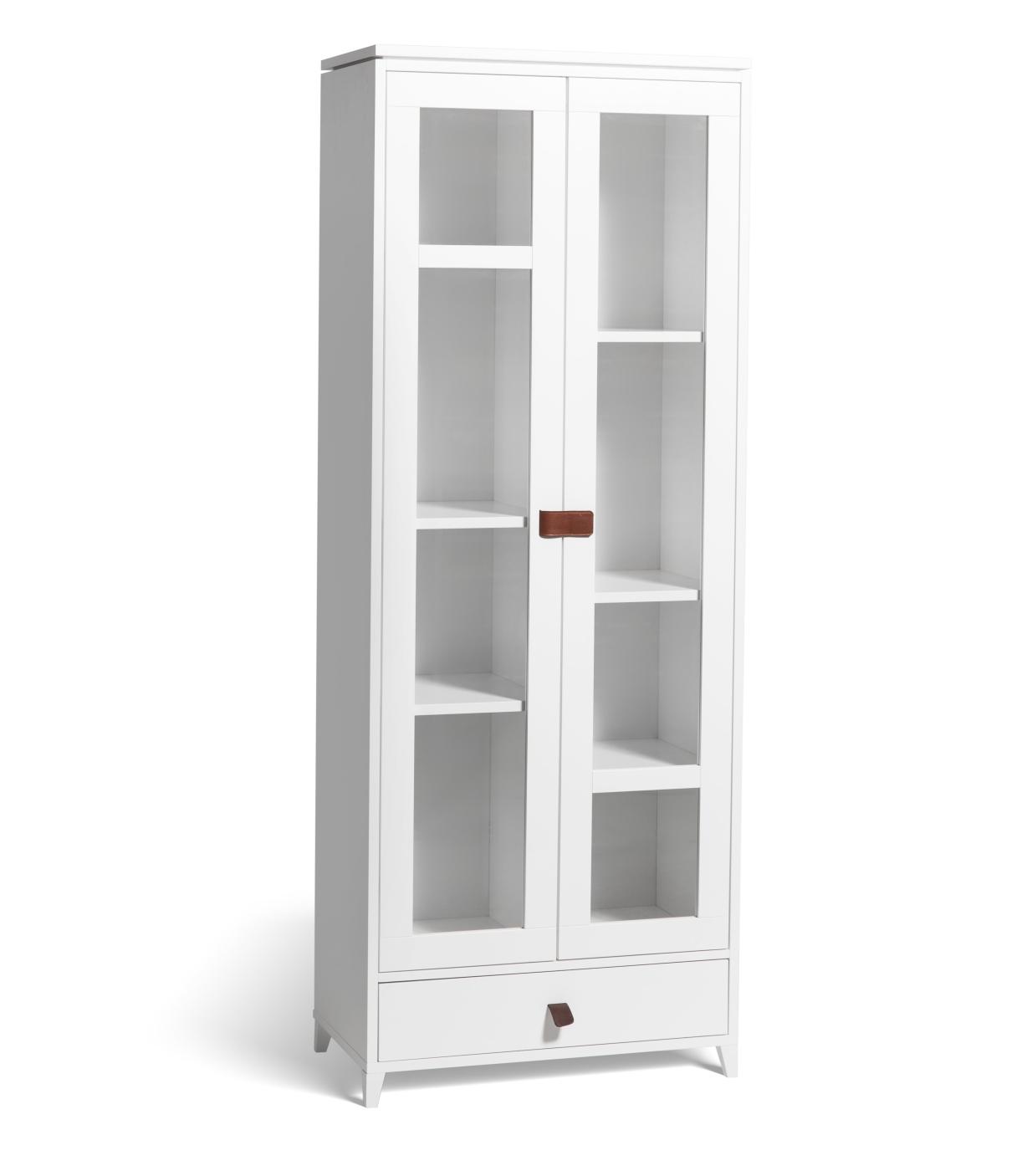 Abisko vitrinskåp högt 190 cm vit Mavis