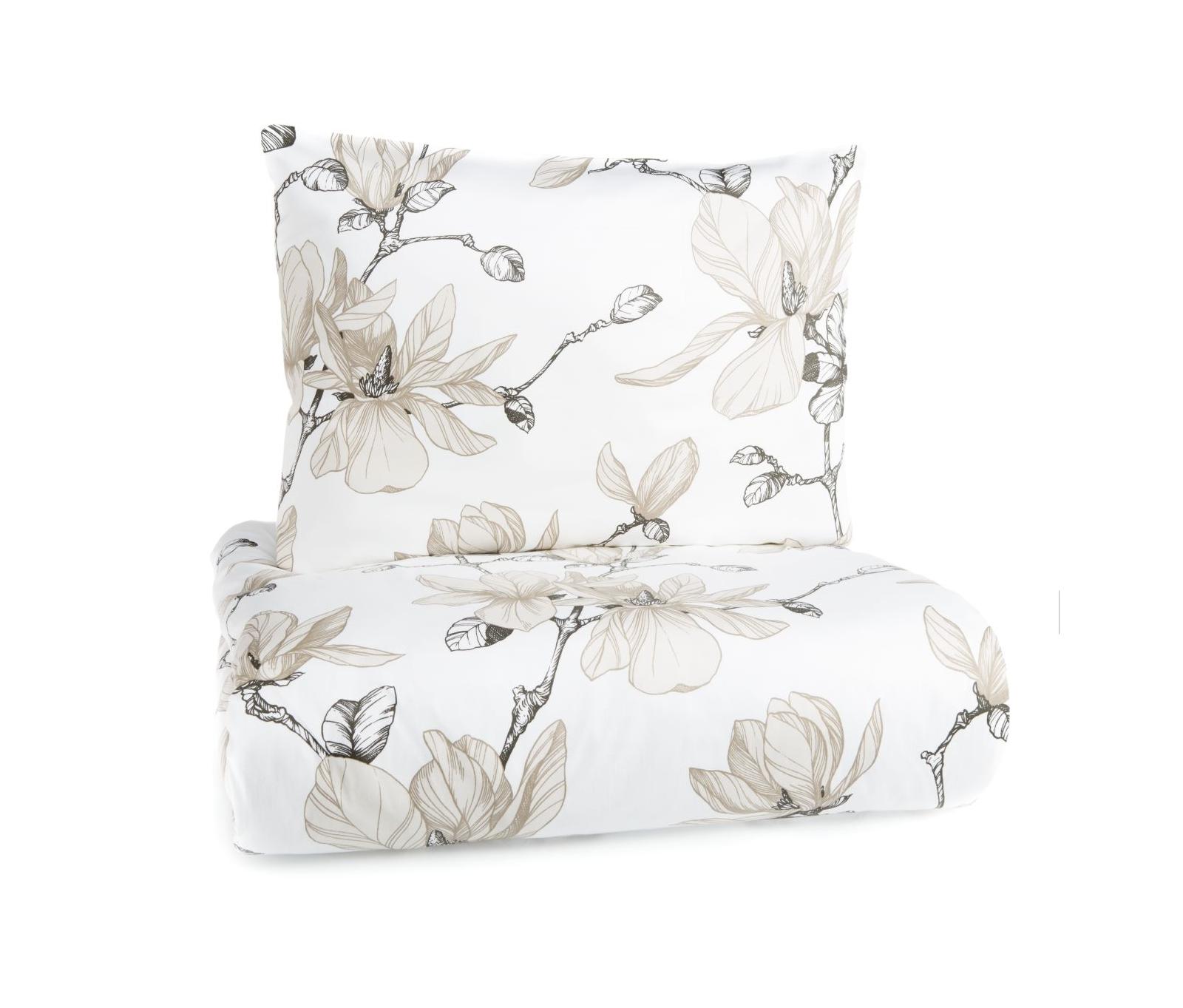 Breda satinpåslakan Magnolia vit-nutria Finlayson