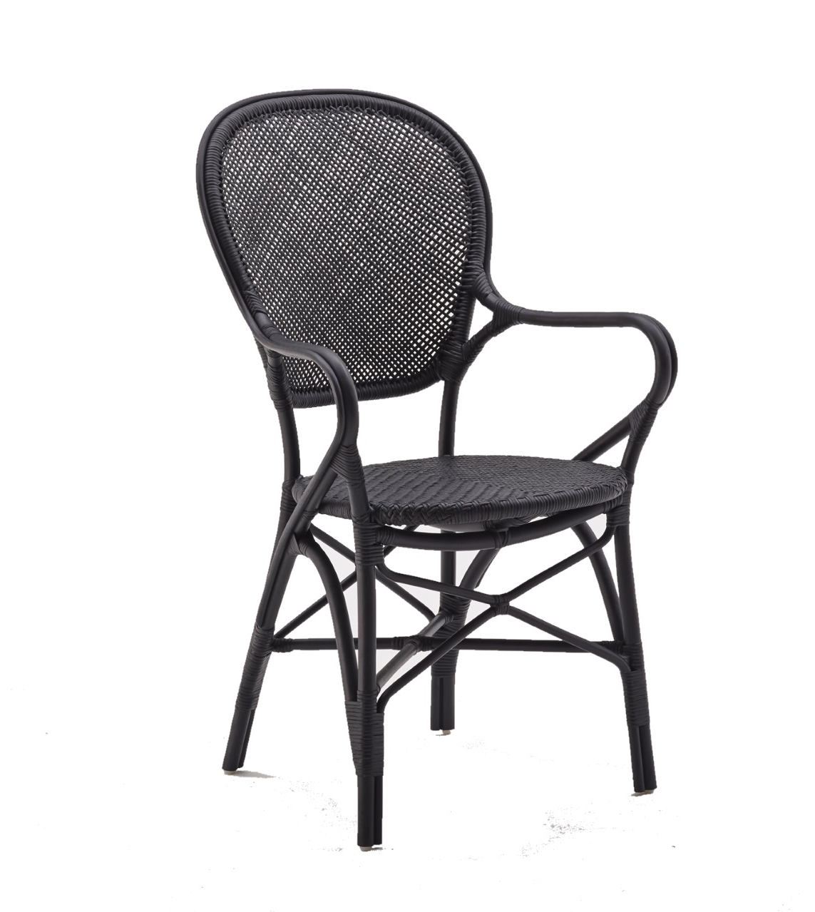Rossini karmstol svart Sika-design