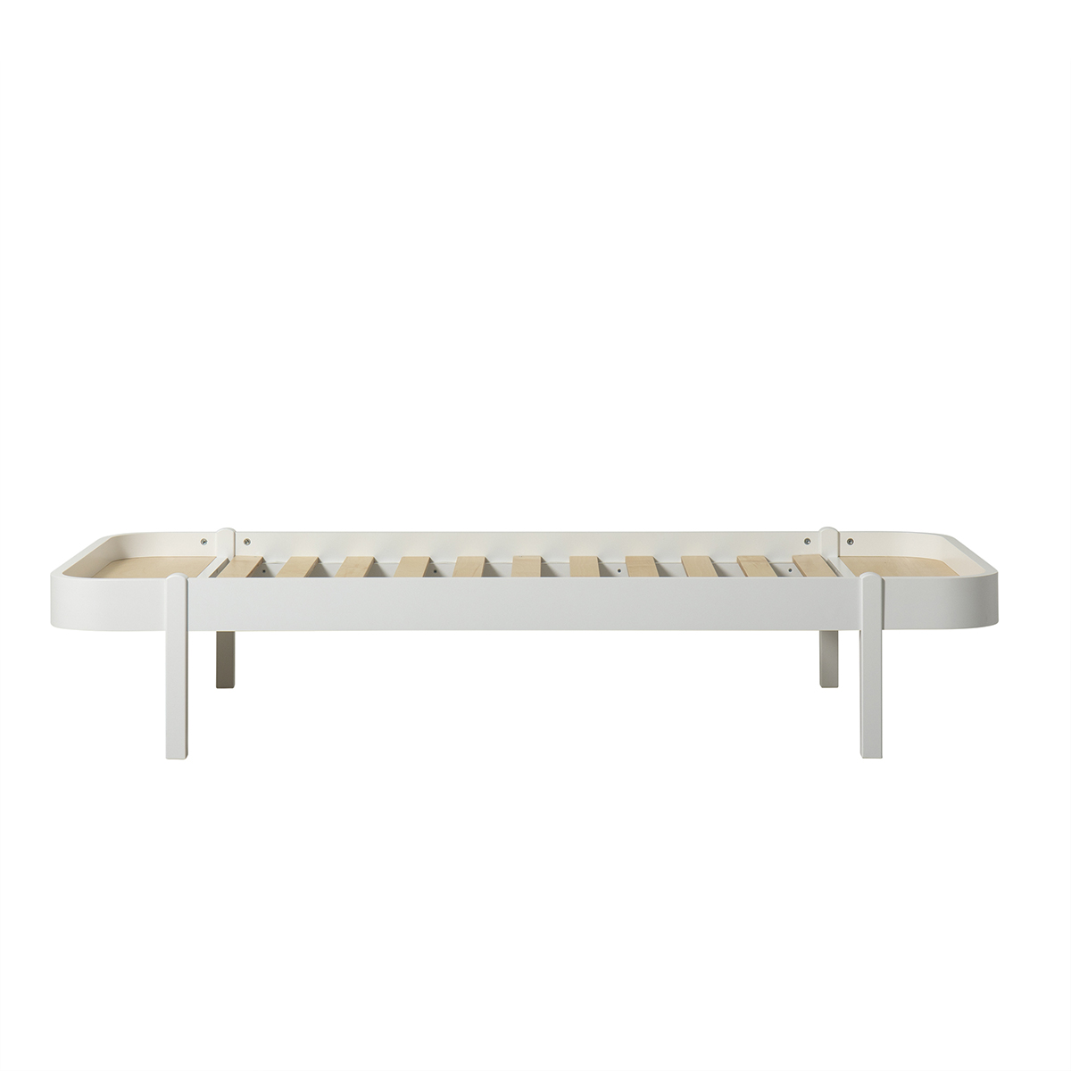 Wood Lounger 90 cm vit, Oliver Furniture