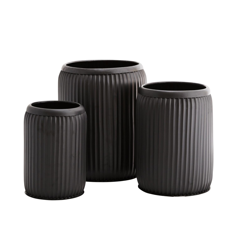 Metallkrukor 3-set matt svart, Madam Stoltz