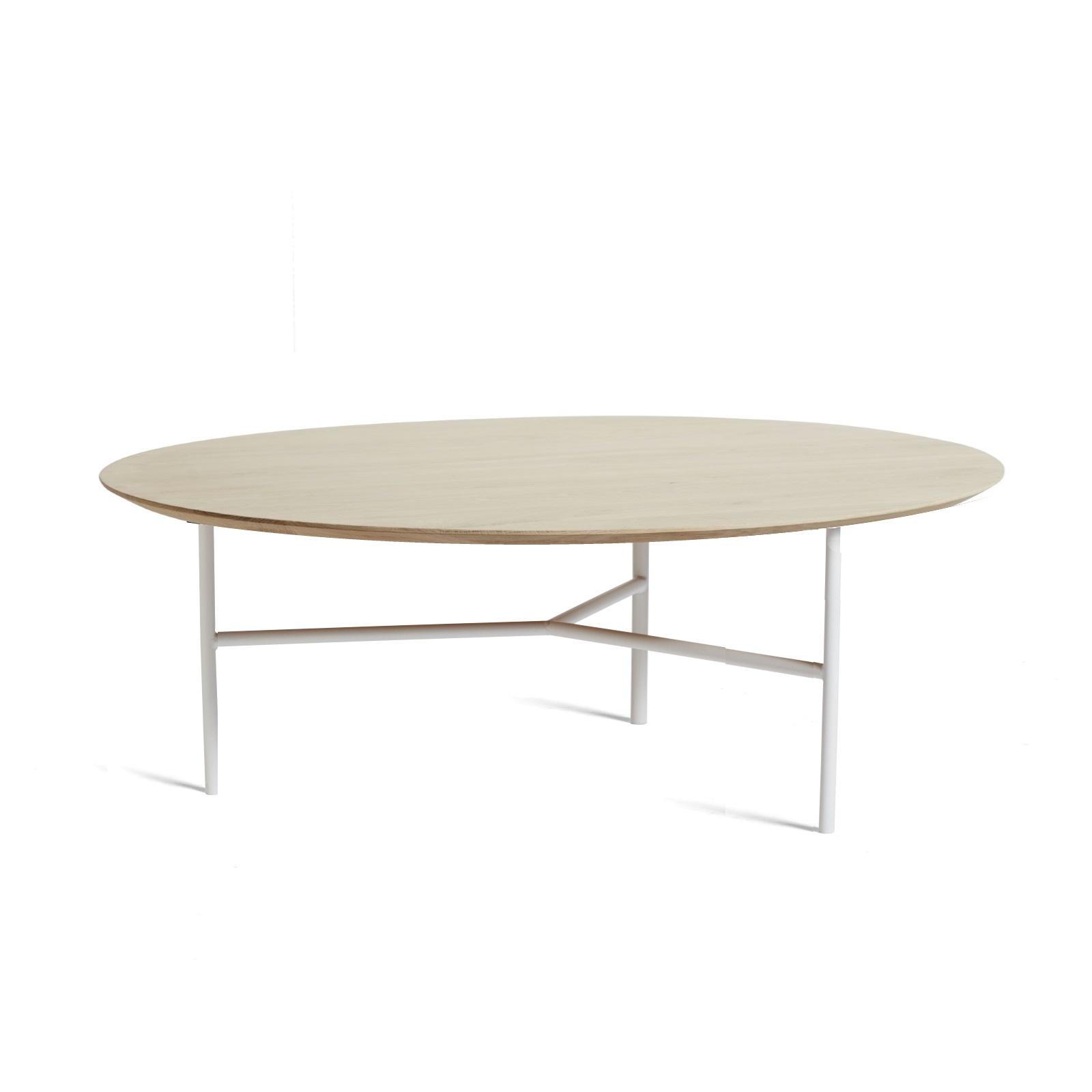 TRIBECA soffbord 110 cm såpad ek / vit, Mavis