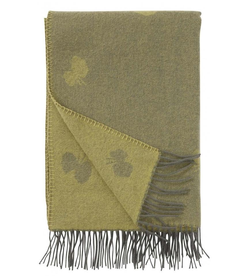 Choucho sjal, grågul, Klippan Yllefabrik