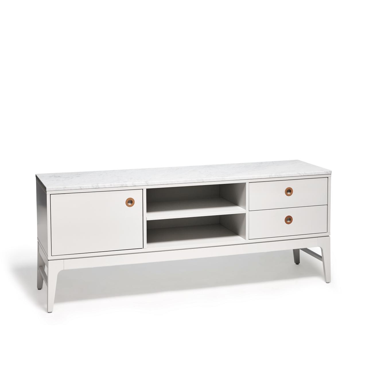 Höllviken TV-bänk 150 cm grå/ marmor, Mavis