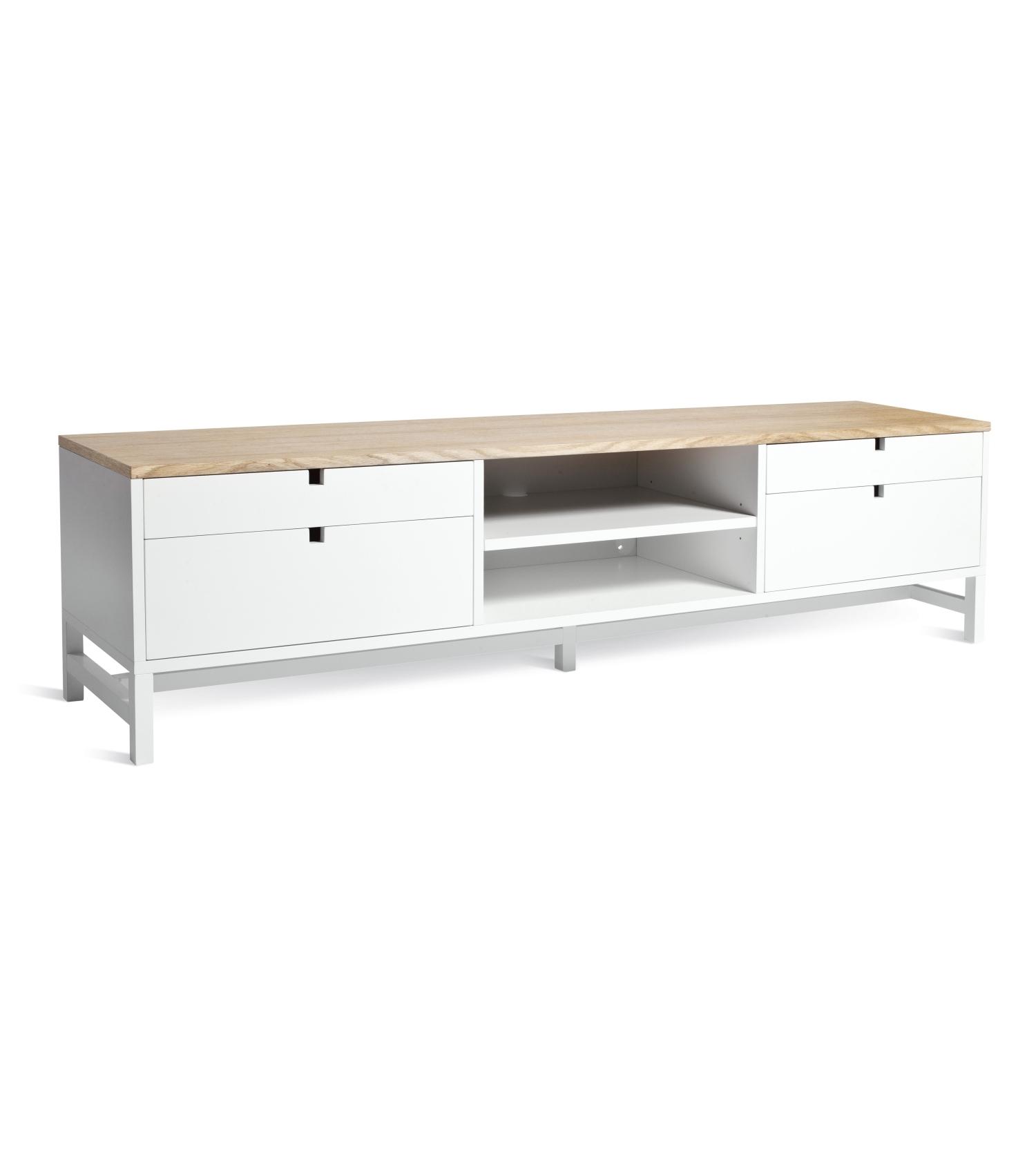 Falsterbo TV-bänk 180 cm lådor ek, Mavis