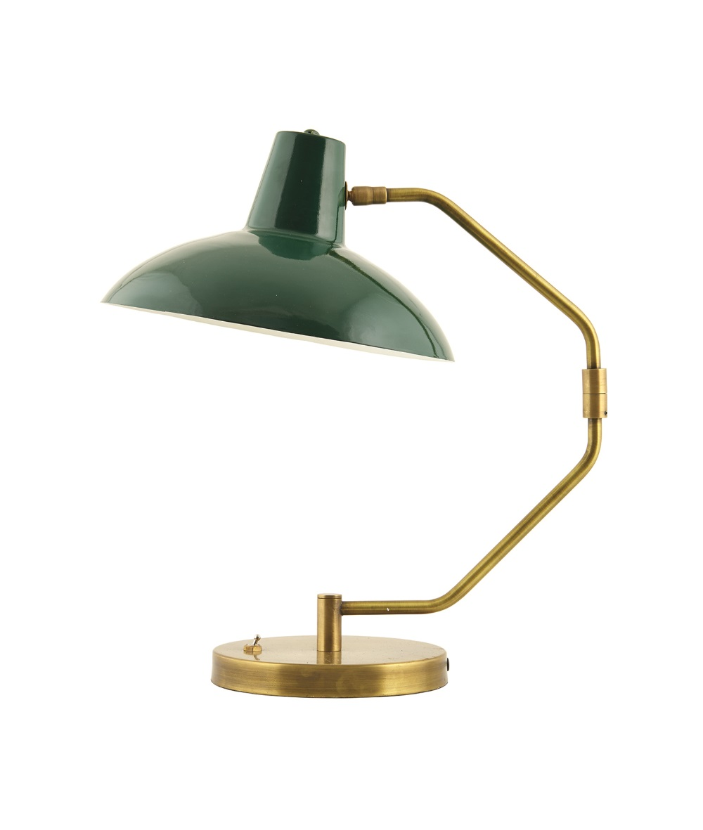 Bordslampa DESK grön/ mässing, House Doctor