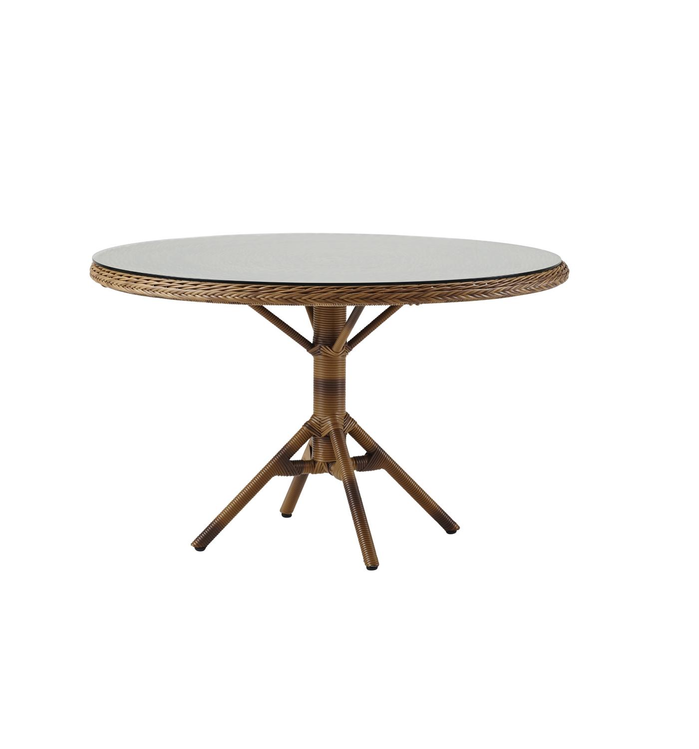Grace matbord m/ glastopp Chestnut, Sika-design