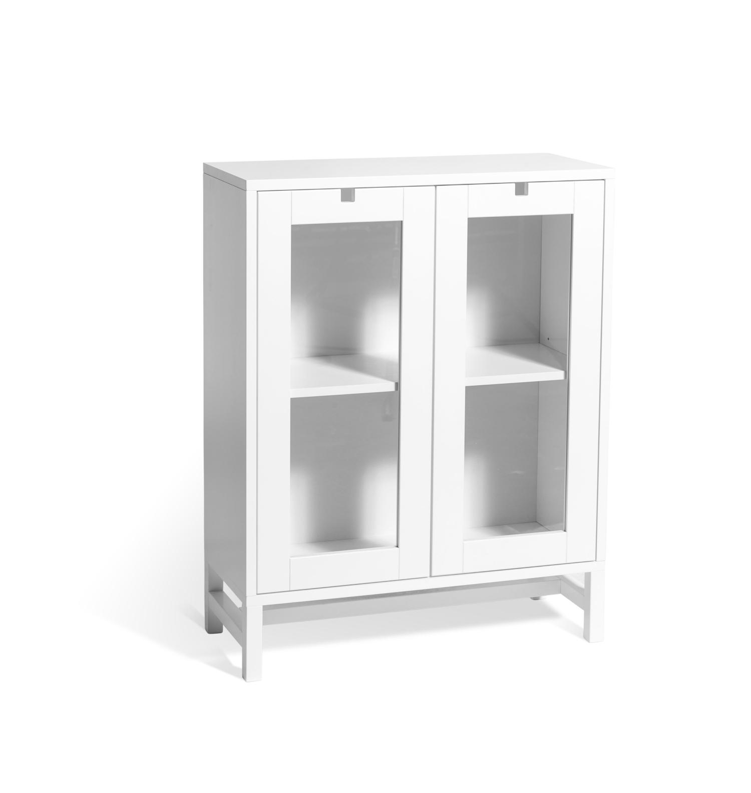 vitt vitrinskåp