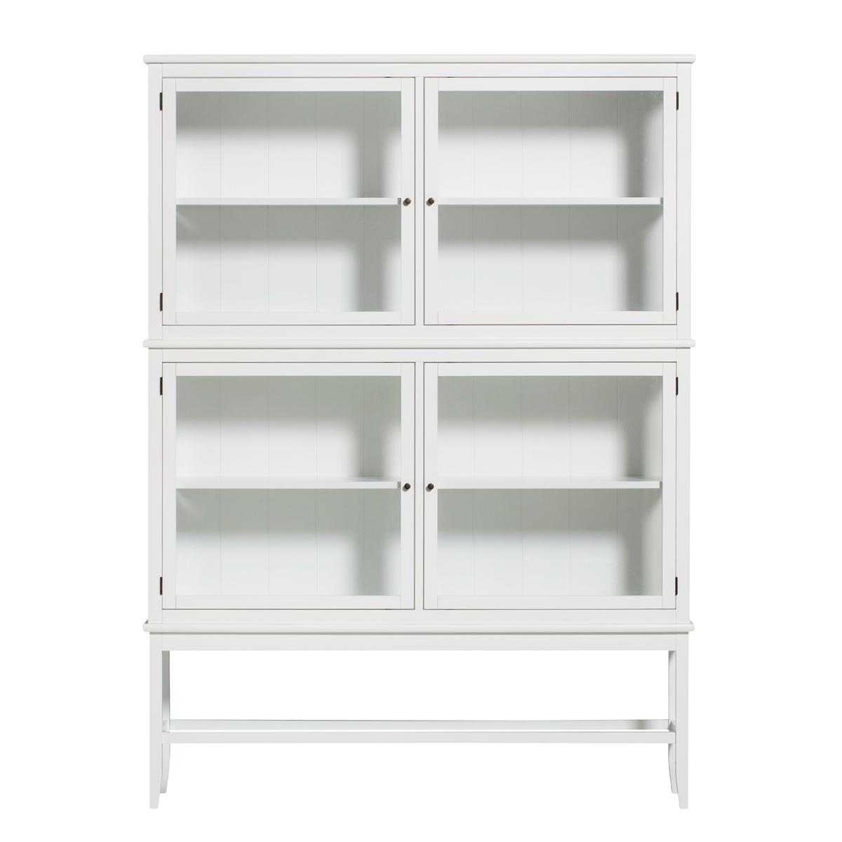 Vitrinskåp Seaside med ben vit, Oliver Furniture