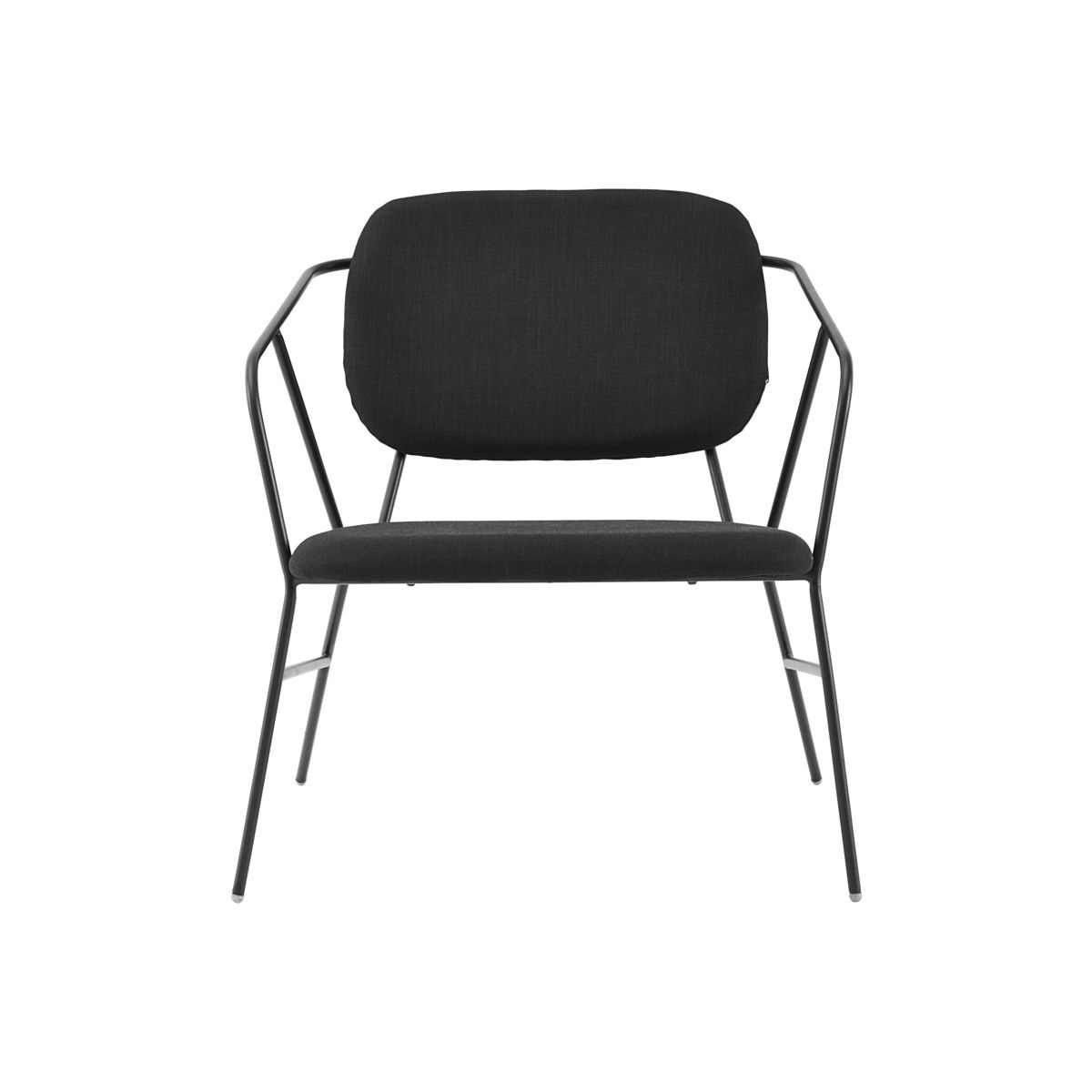 Lounge chair KLEVER black metall, House Doctor
