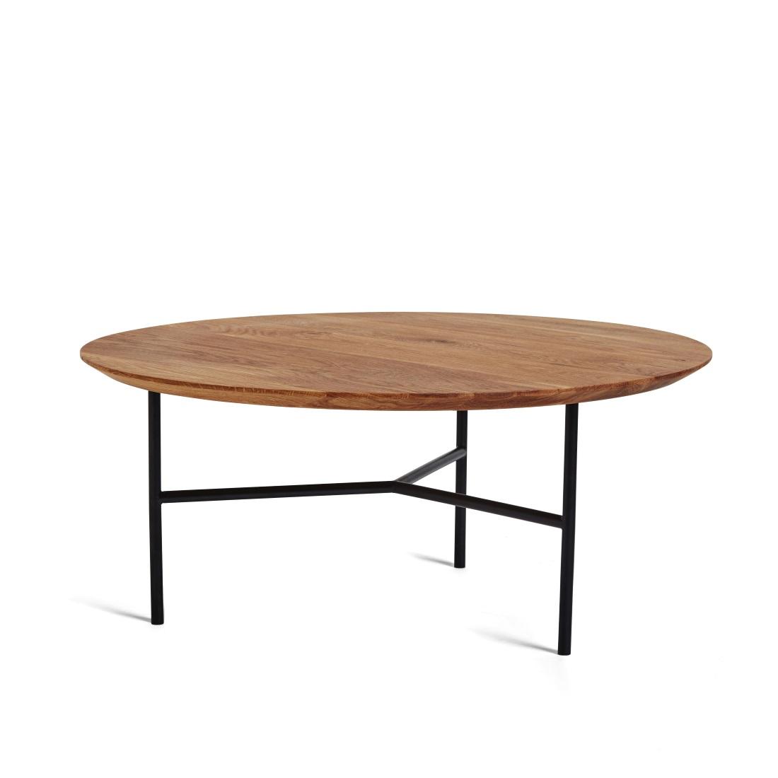TRIBECA soffbord 80 cm oljad ek / svart, Mavis