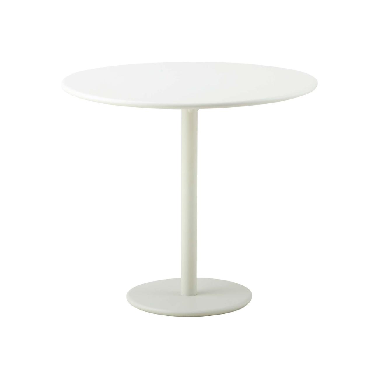 Cafébord GO Ø 80 cm vitlack, Cane-line