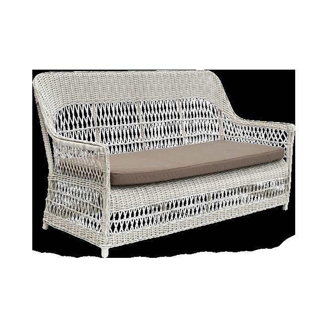 Dawn 3-sits soffa Vintage white, Sika-design