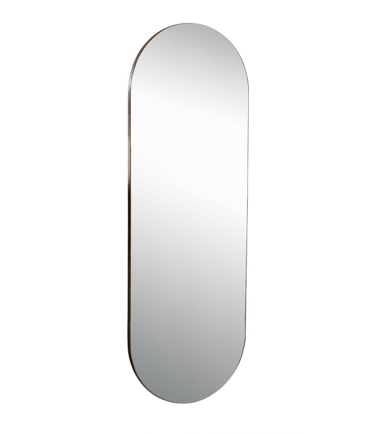 Oval spegel Post i rökt ek h:125 cm, Mavis