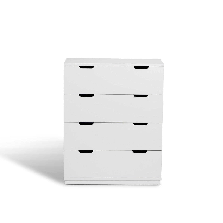 Byrå AOKO 4 lådor vit, Mavis